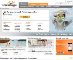 screenshot Ferienhäuser Ferienwohnung.com