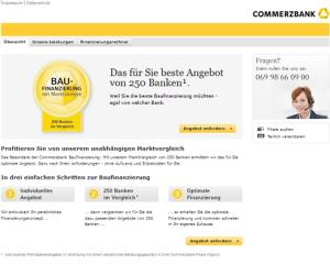 screenshot baufinanzierung commerzbank