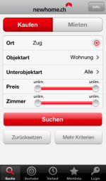 Newhome.ch App