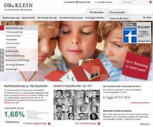 screenshot baufinanzierung vergleich dr.klein.de
