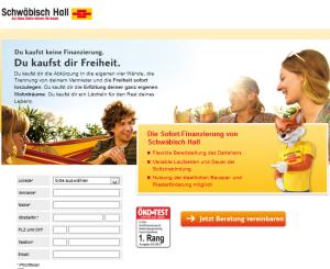 screenshot baufinanzierung Schwäbisch hall